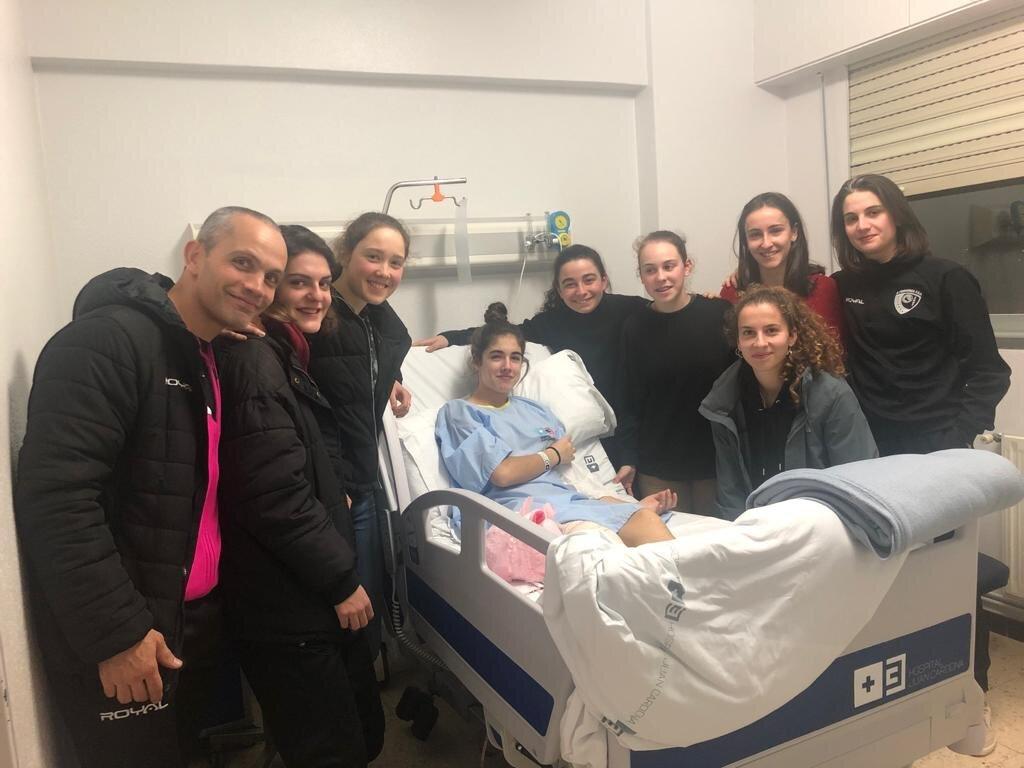 Carmen xogadora da Fervenza operada por unha lesión