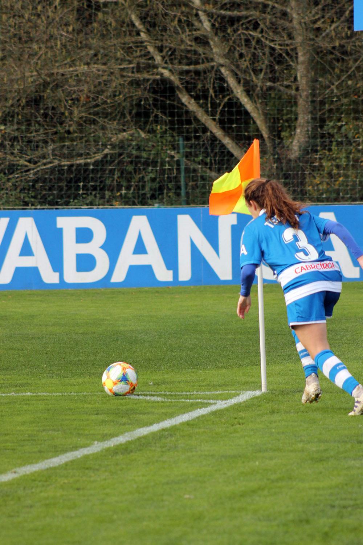 Tere Abelleira, futbolista do RCD ABANCA en Abegondo / SABELA MOSCOSO