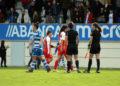 Noelia Villegas, xogadora do RC Deportivo ABANCA, partido contra Sevilla en Abegondo / SABELA MOSCOSO
