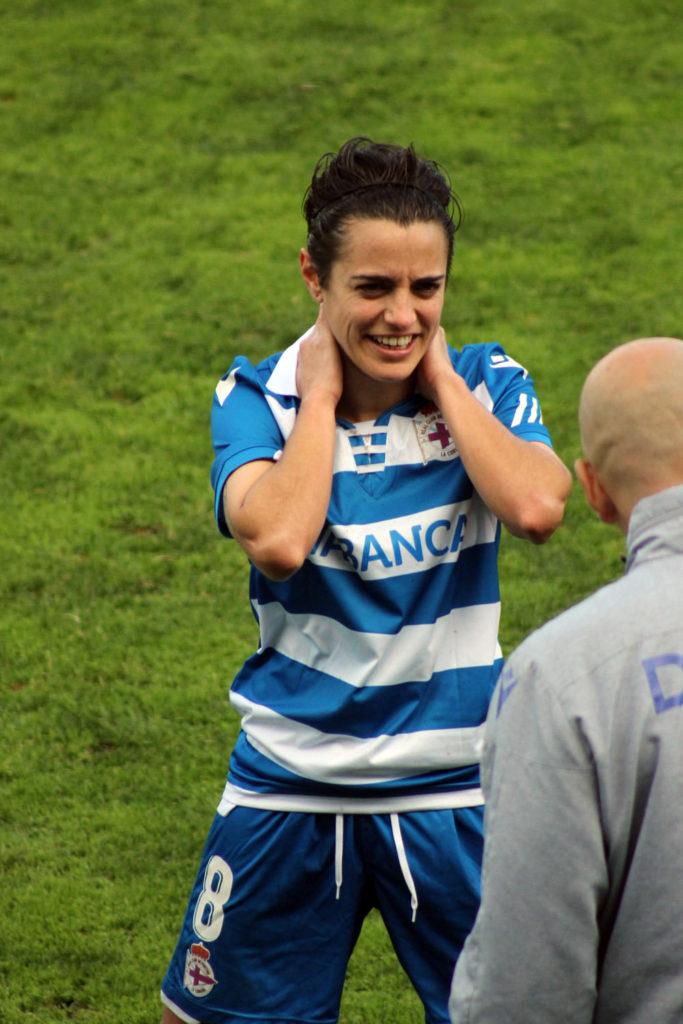 Alba Merino, xogadora RC Deportivo ABANCA / SABELA MOSCOSO