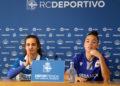 Tere Abelleira e Noelia Villegas en rolda de prensa / SABELA MOSCOSO