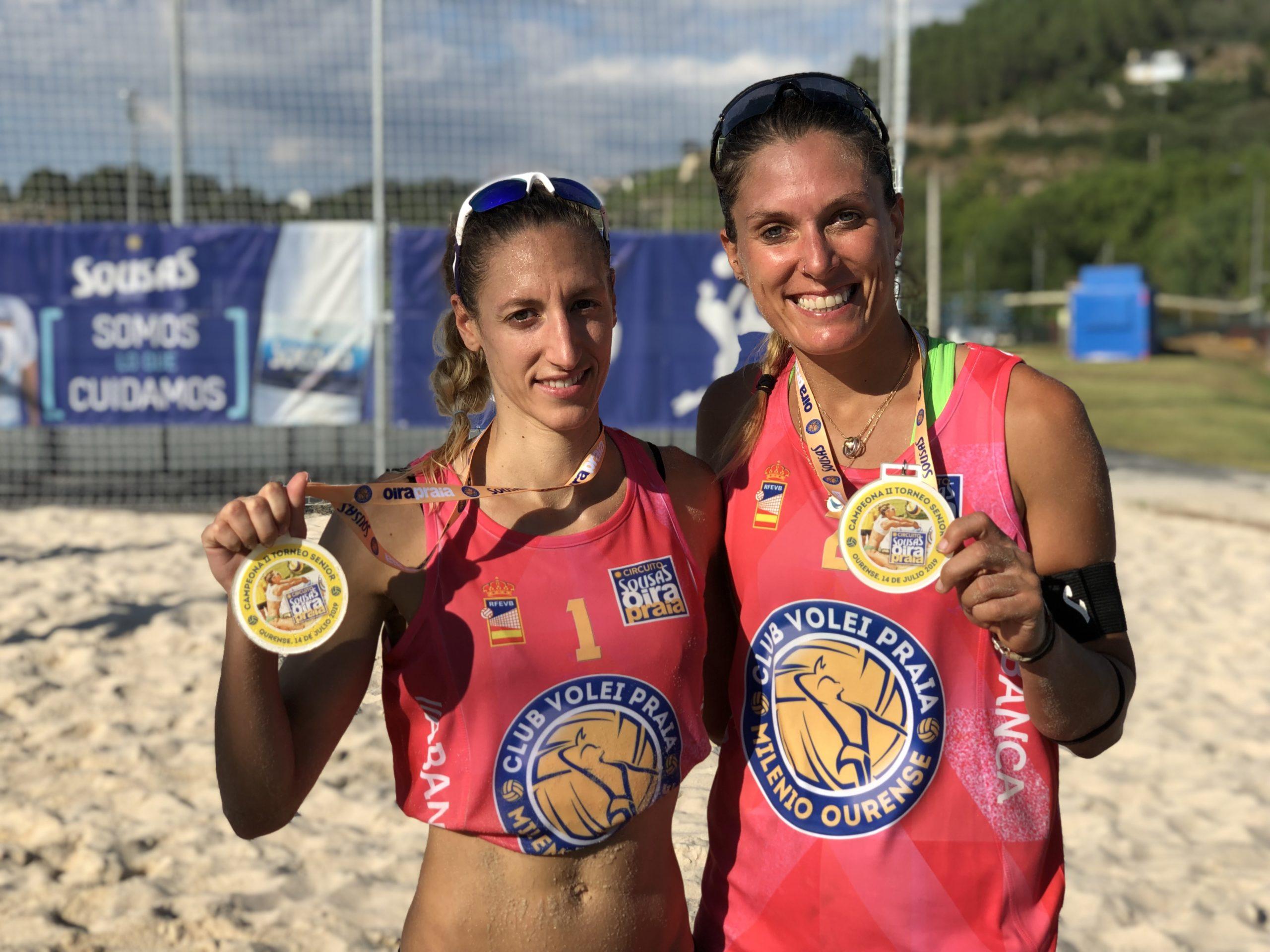 Nuria Bouza e Nazaret Florián, gañadoras do Beach Voley Center / CLUB VOLEIBOL OURENSE