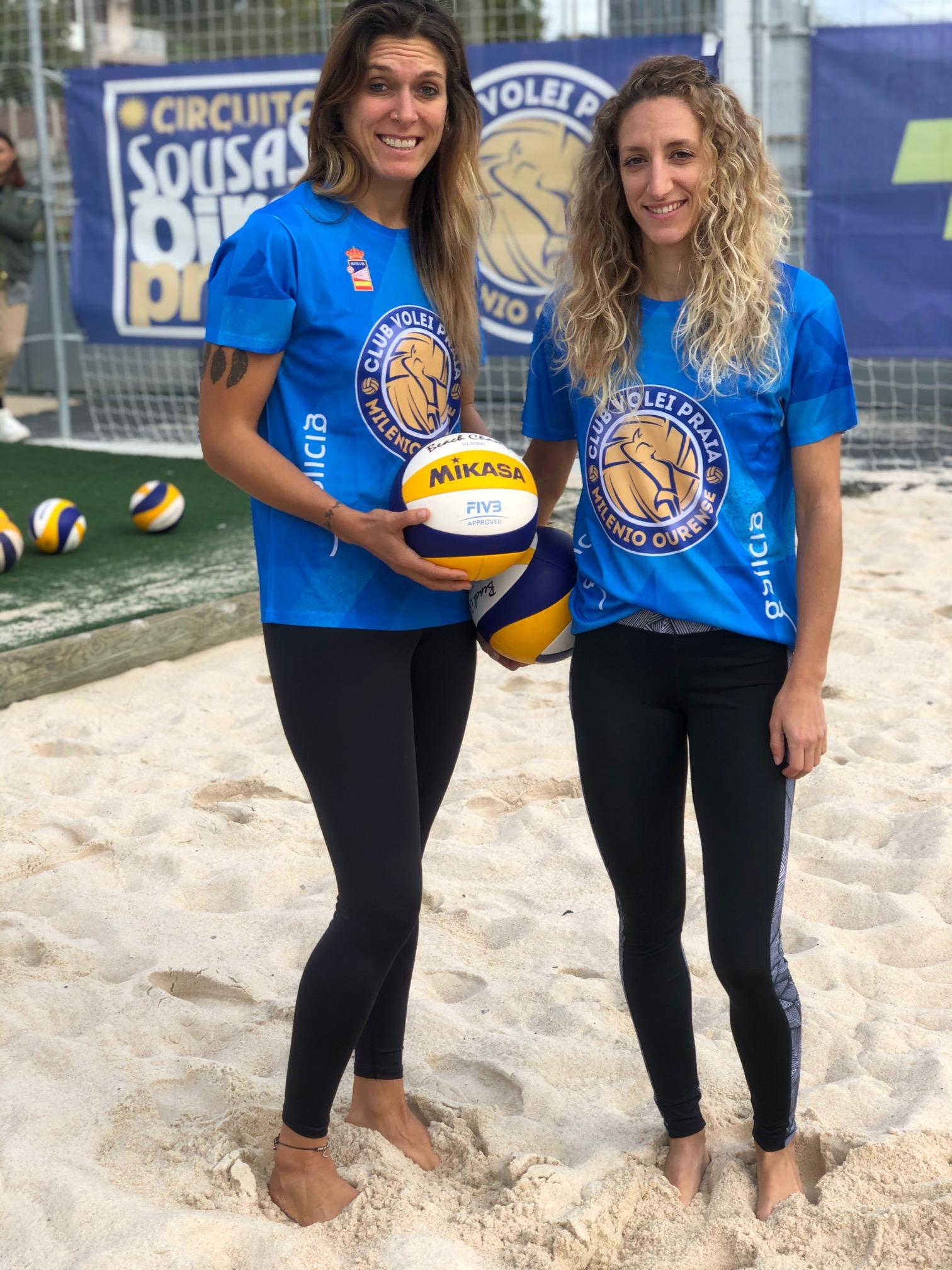 Nuria e Nararet, xogadadoras do Oira Praia, gañan no torneo de Volei Praia de Zaragoza