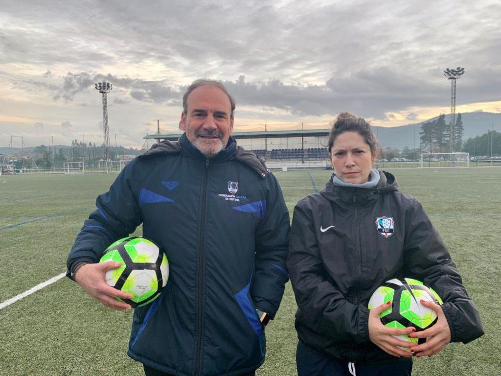 Quin Valbuena e Susú Cores, adestradores da Selección Galega Sub17 e Sub15 respectivamente