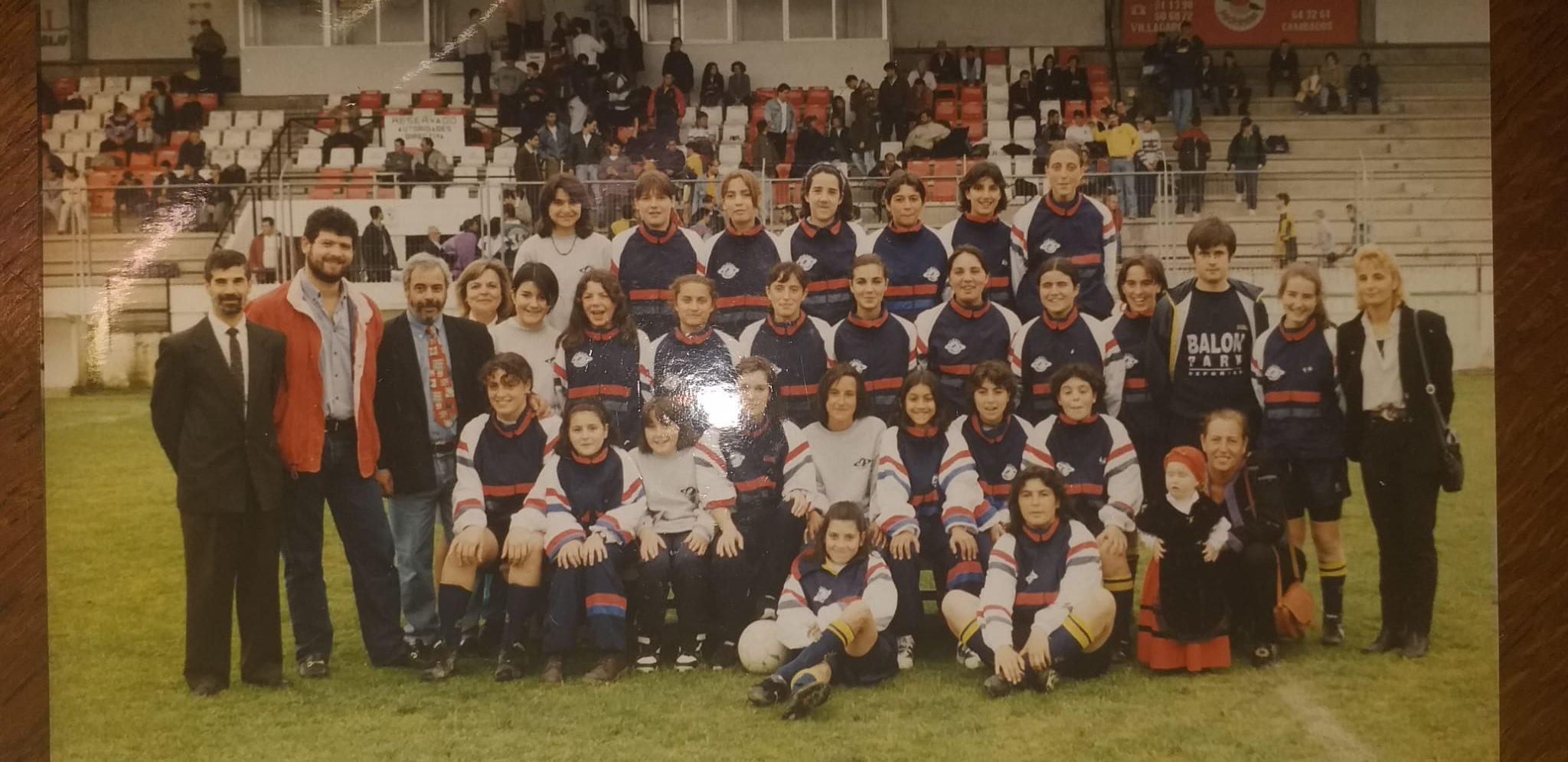 Plantilla Atlético Arousana ano 1994