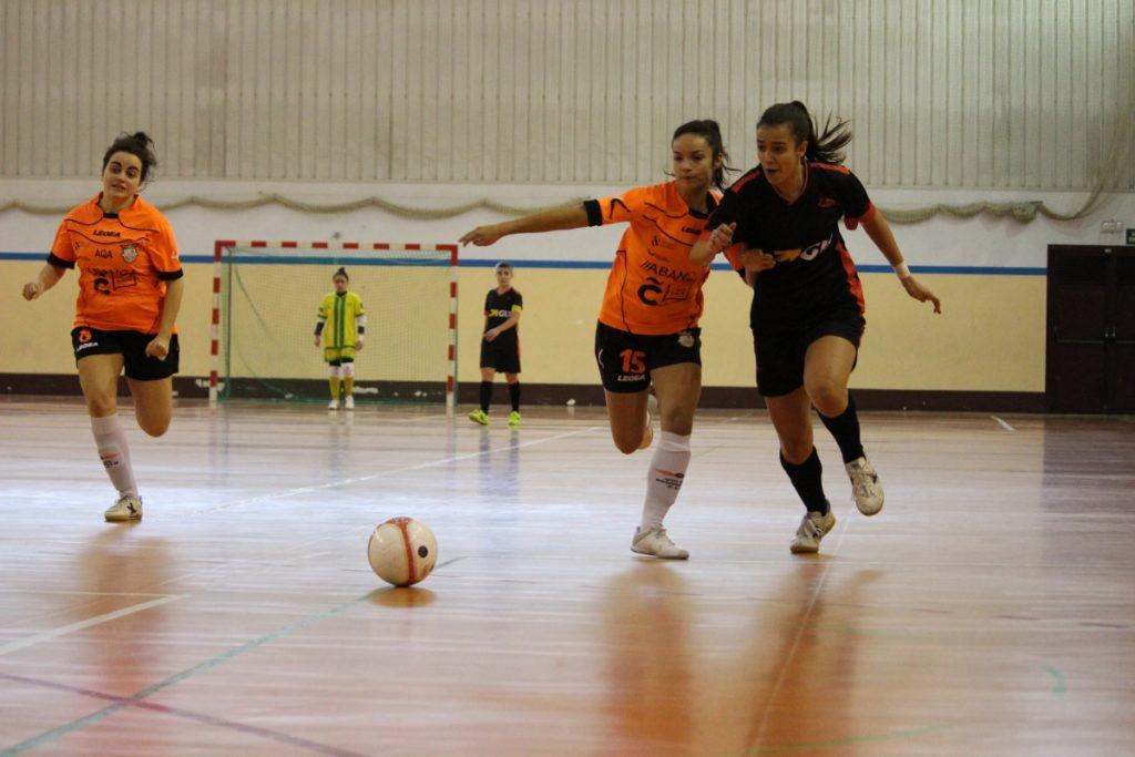 O Viaxes Amarelle FSF no encontro da Copa da Raíña contra o Cidade das Burgas FSF / VIAXES AMARELLE