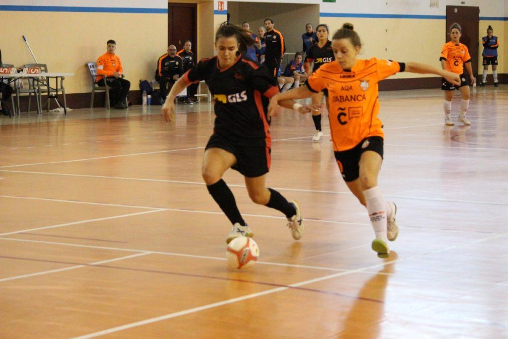 O Viaxes Amarelle FSF no encontro da Copa da Raiña contra o Cidade das Burgas FSF/ VIAXES AMARELLE
