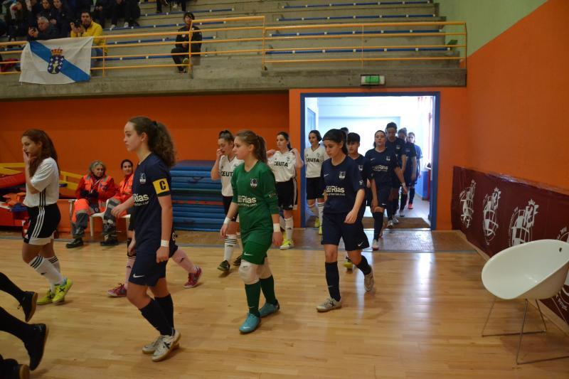selección galega sub16 e sub 19 contra ceuta en Betanzos