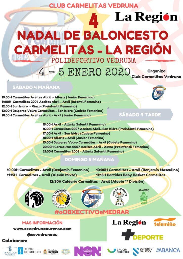 Cartel do Torneo de Nadal do Carmelitas / CLUB CARMELITAS VEDRUNA