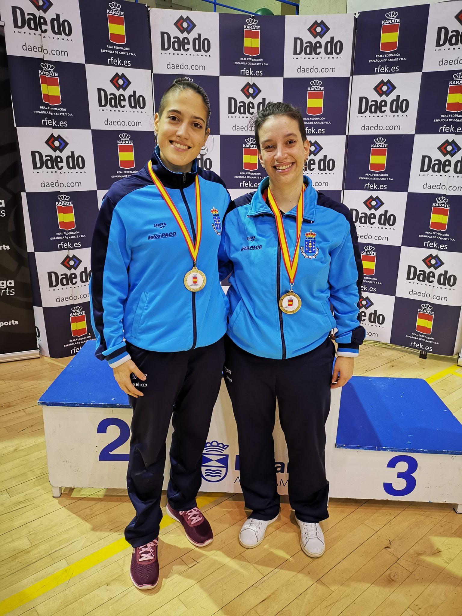 Ruth e Cristy no campionato de España Sénior e de Para-Karate