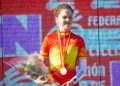 Laura Mira coa medalla de ouro no Campionato de España de ciclocrós / FEDERACIÓN GALEGA DE CICLISMO
