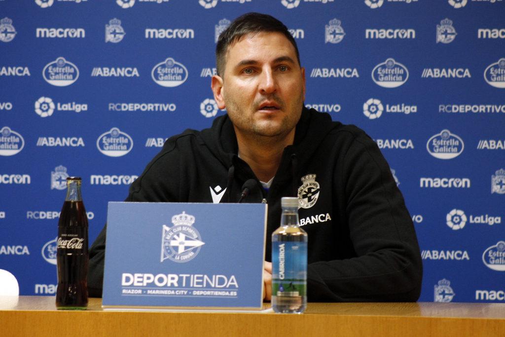 Manu Sánchez, adestrador RCD / SABELA MOSCOSO