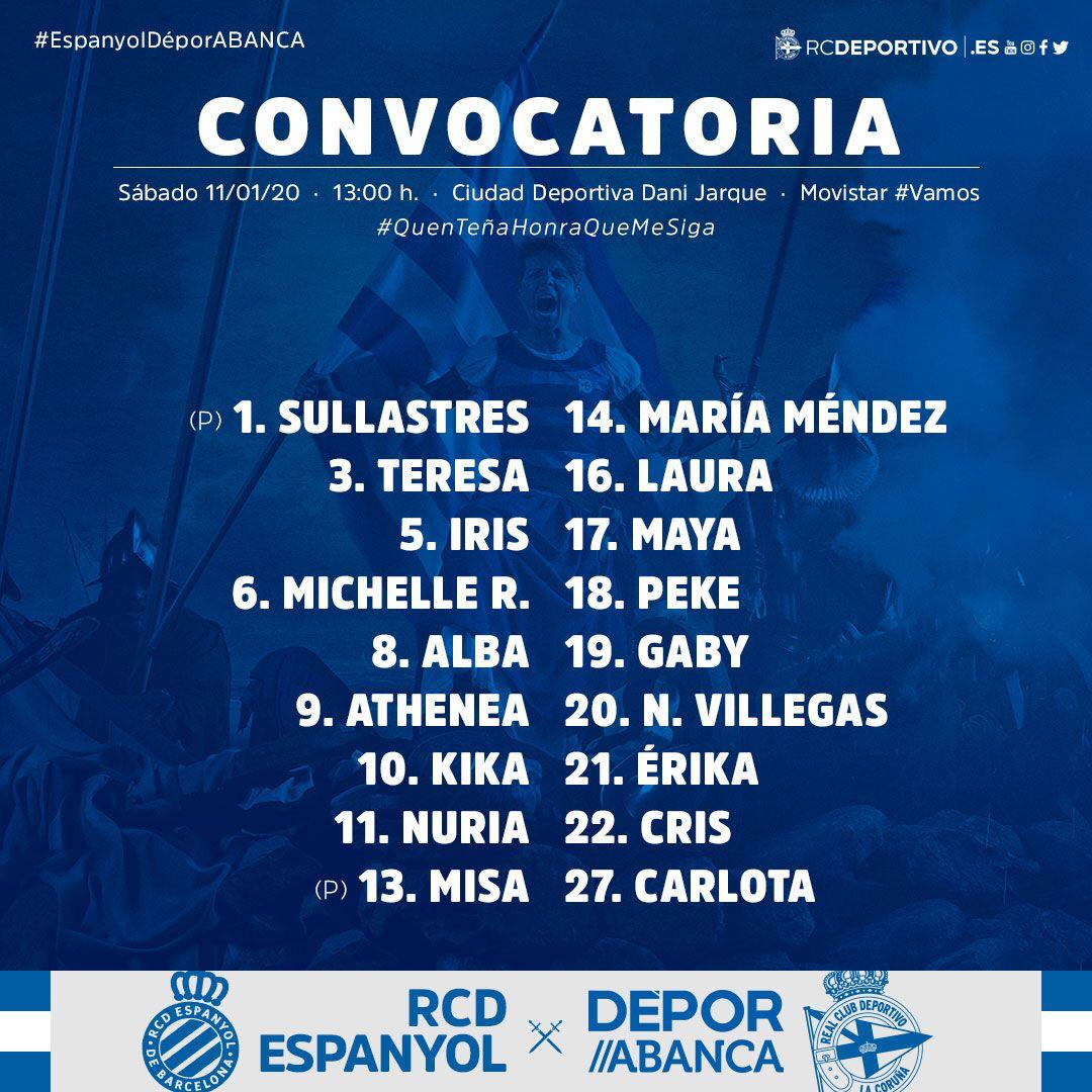Convocatoria Deportivo ABANCA
