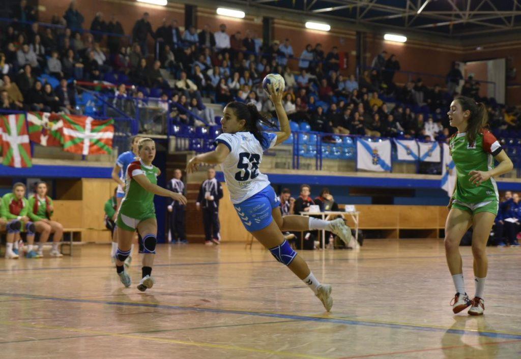 As cadetes perden ante a selección de Eskaudi / FEDERACIÓN DE BALONMÁN GALEGO
