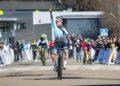 Laura Mira chegando á meta no Campionato de España de ciclocrós / FEDERACIÓN GALEGA DE CICLISMO