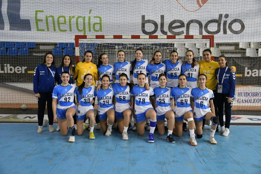 O plantel da selección xuvenil galega / FEDERACIÓN DE BALONMÁN GALEGO