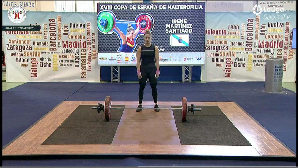 Irene Martínez na XVIII Copa de España de Halterofilia