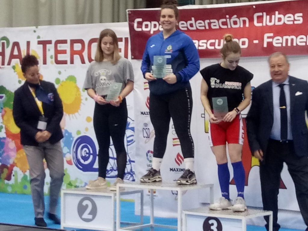 Irene Blanco Tarela, no podio Sub 18 / CH CORUÑA
