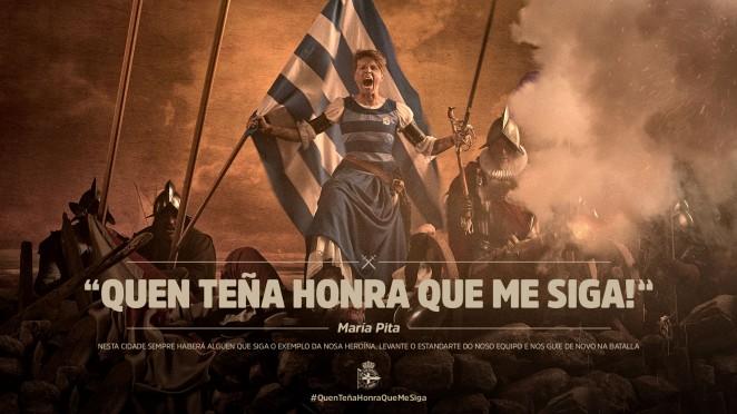 """Campaña RCD 2019-20 """"Quen teña honra que me siga"""" / RCD"""