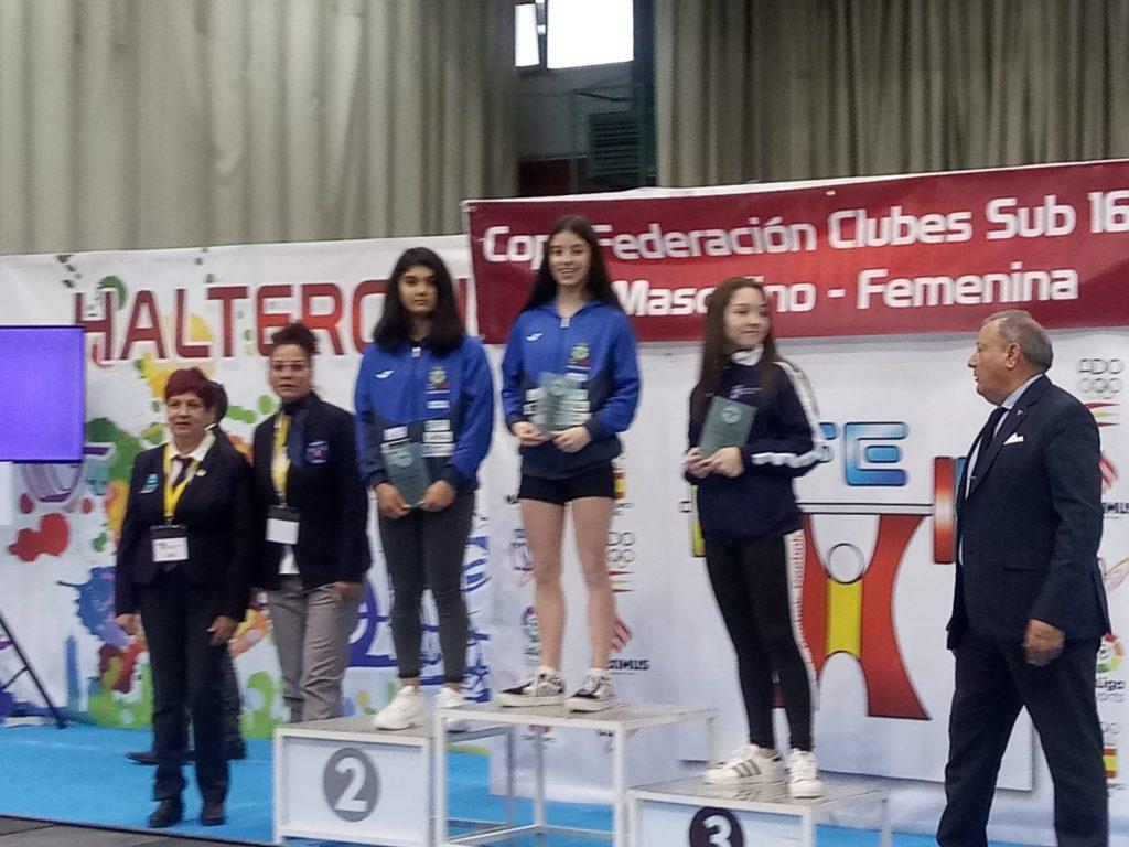 Ruth Fuentefría, podio Sub 16 / CH CORUÑA