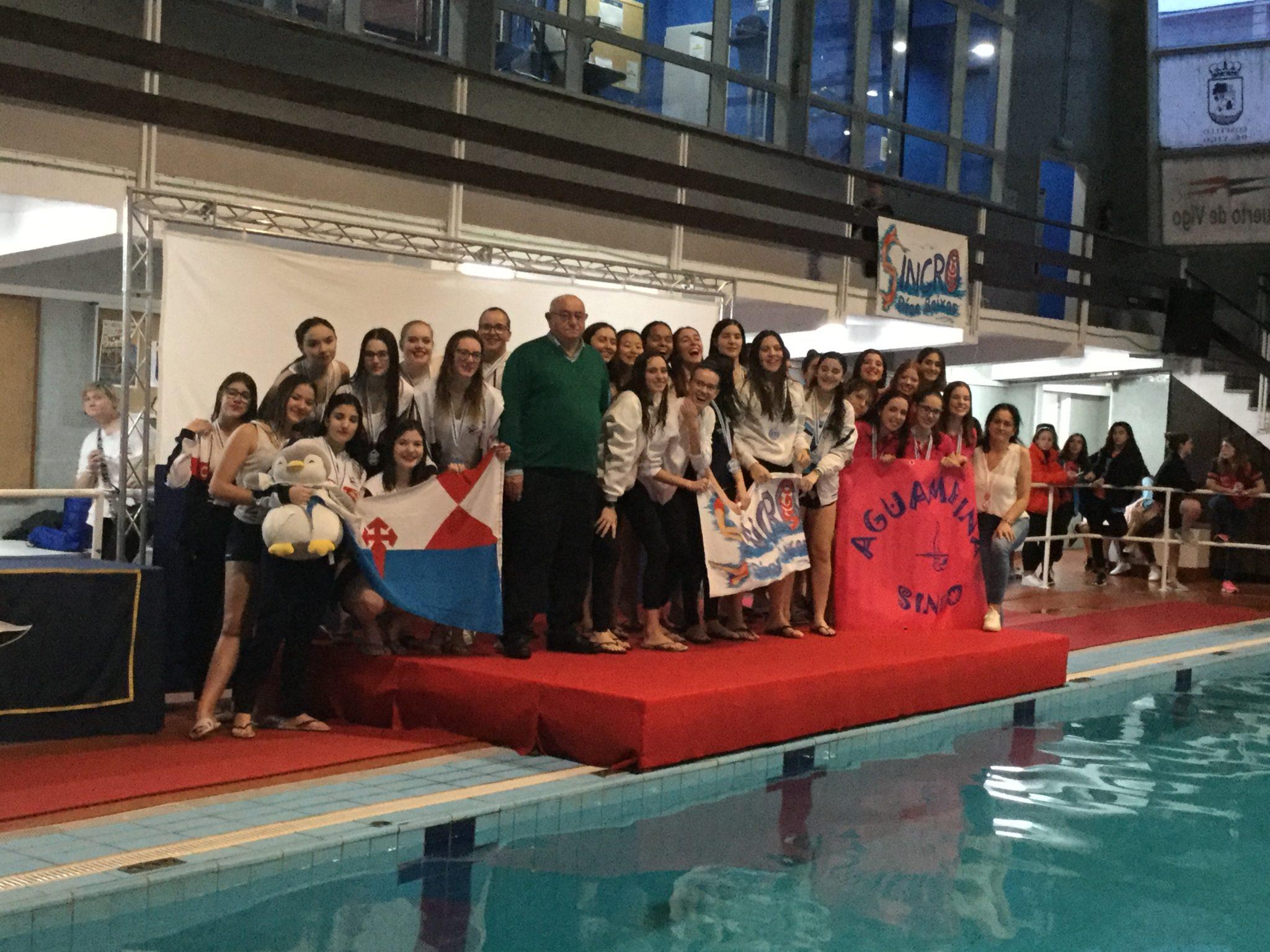O club de natación sincronizada Aguamarina de Culleredo / CONCELLO DE CULLEREDO