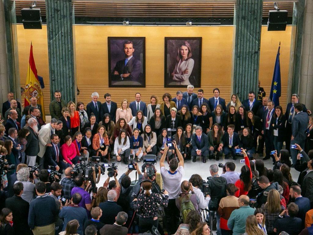 Sinatura no Congreso do convenio do fútbol feminino / CONGRESO