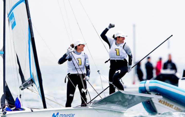 Támara Echegoyen e Paula Barceló no Mundial de Geelong / SAILING ENERGY