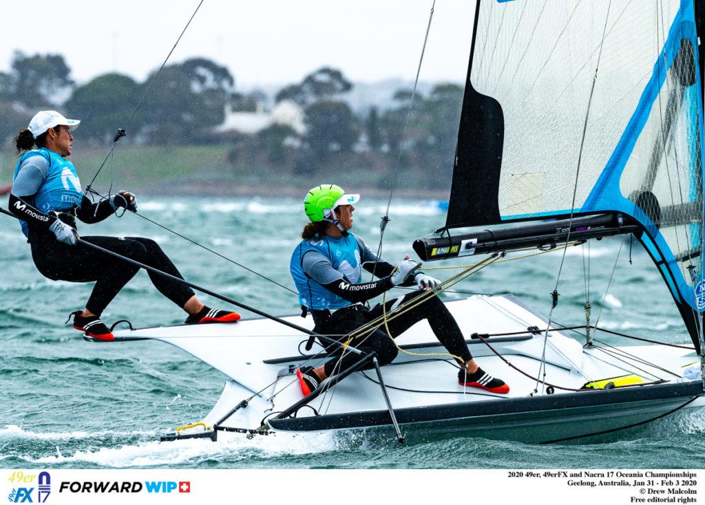 Támara Echegoyen e Paula Barceló competindo en Geelong / DREW MALCOM