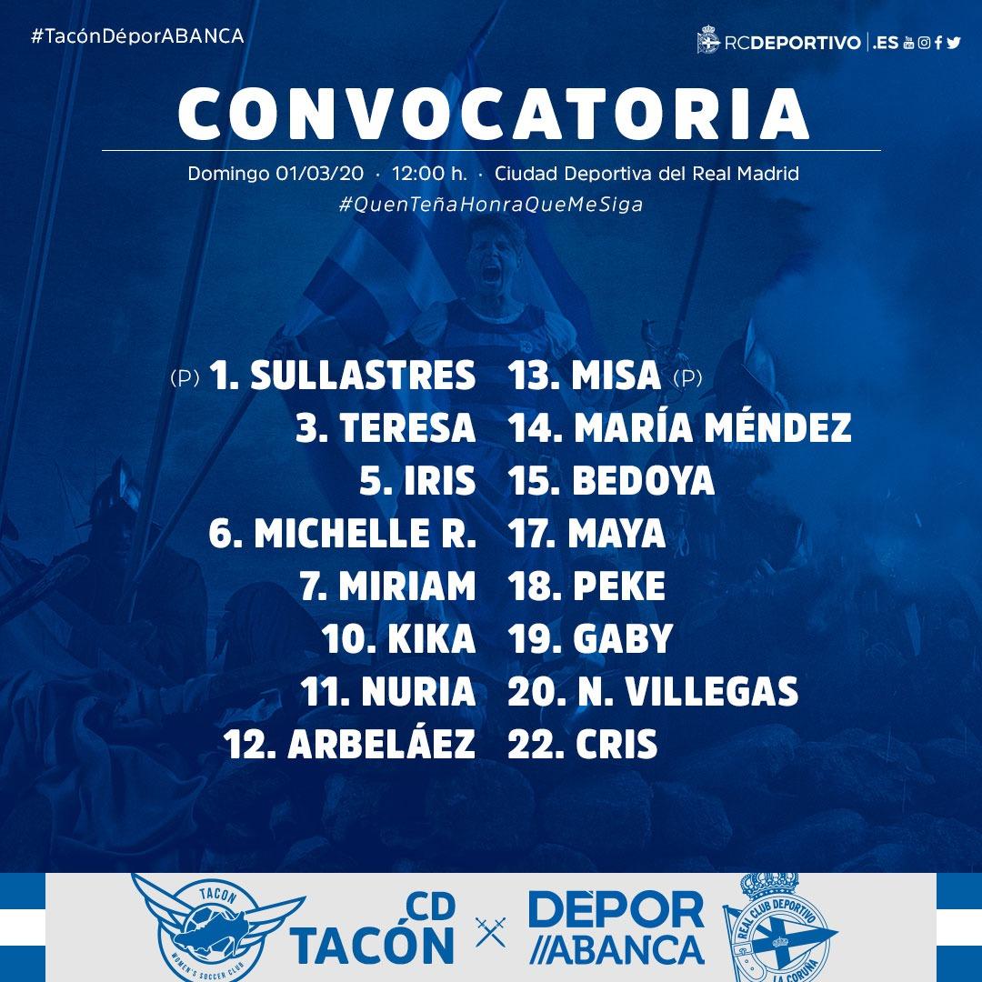 Deportivo ABANCA - Tacón | RCD