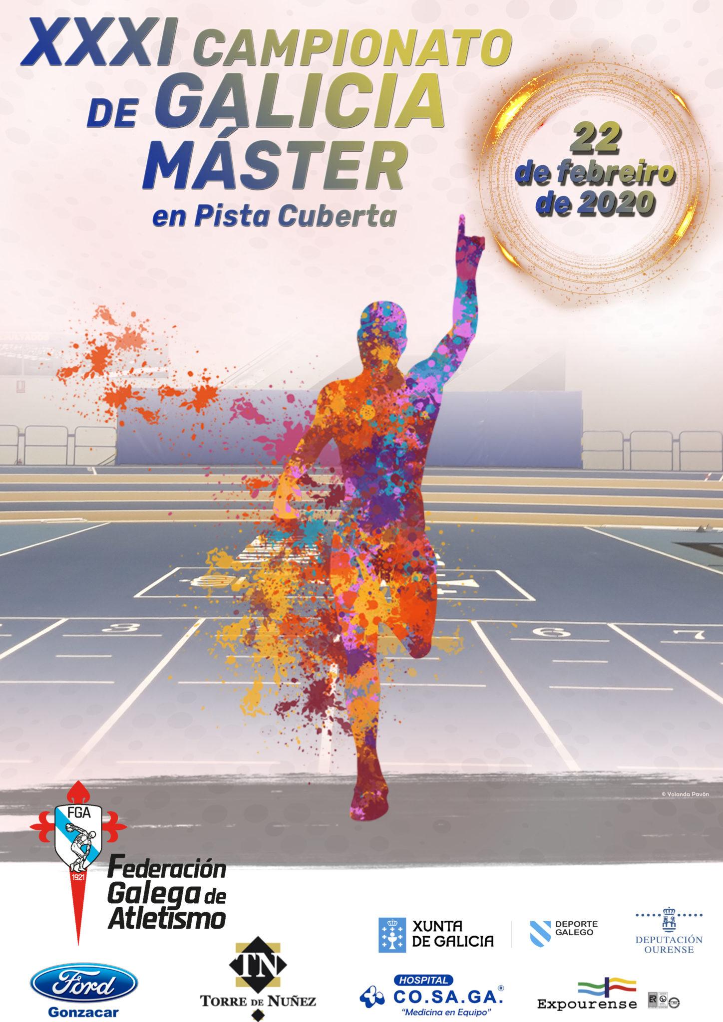 Flora Guzmán, dobrete na categoría W70 en 60 e 200 metros no XXXI Campionato Galego de Máster / FEDERACIÓN GALEGA DE ATLETISMO
