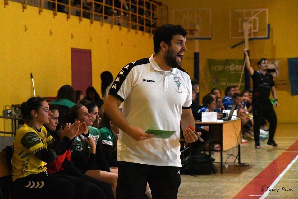 Anxo Otero, adestrador do CdeC Lavadores, equipo galego da División de Honra Prata / ANXO OTERO