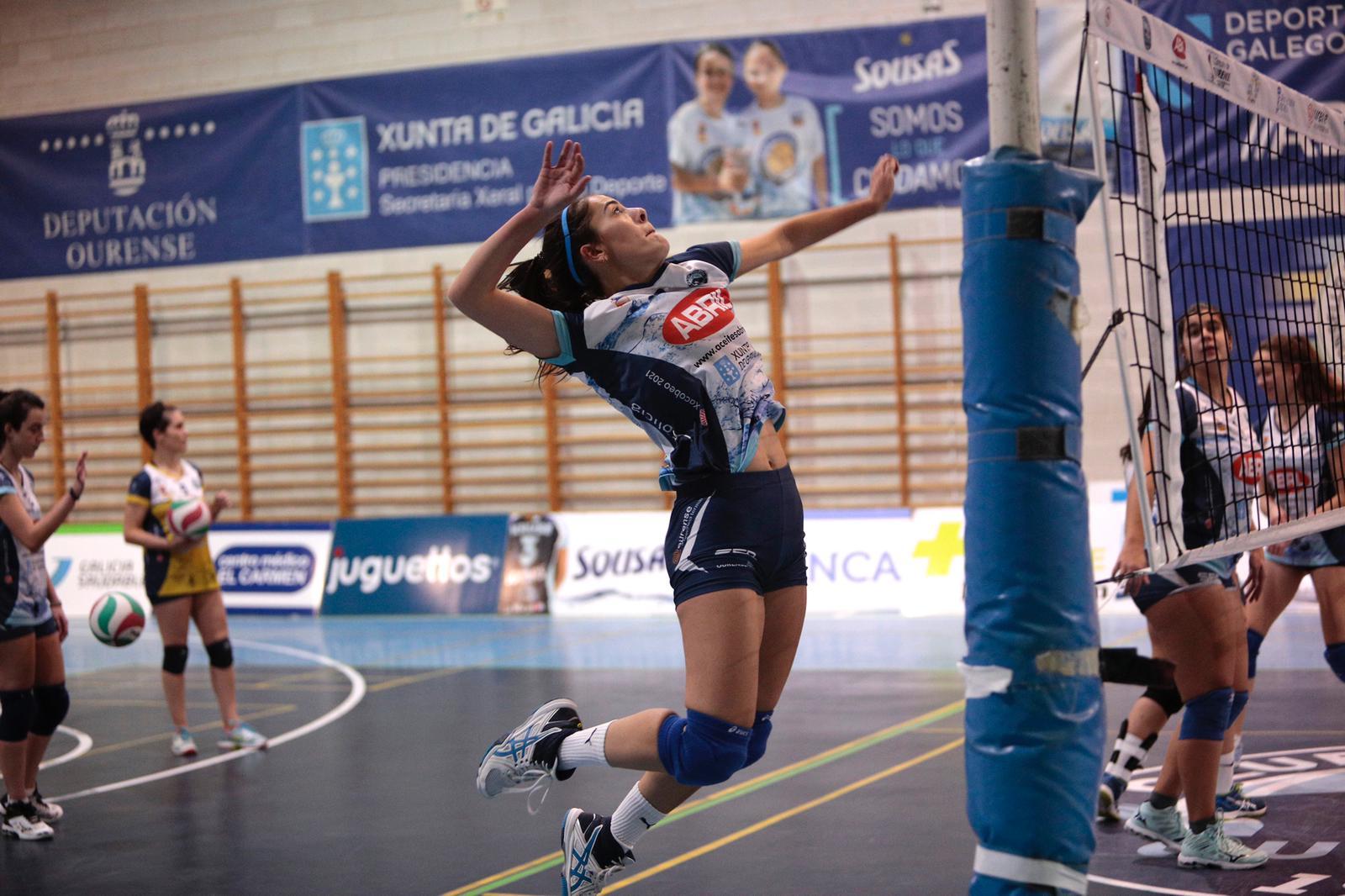 Gladys, a capitá do Aceites Abril, equipo da Primeira División de voleibol / CARLOS BERMELLO