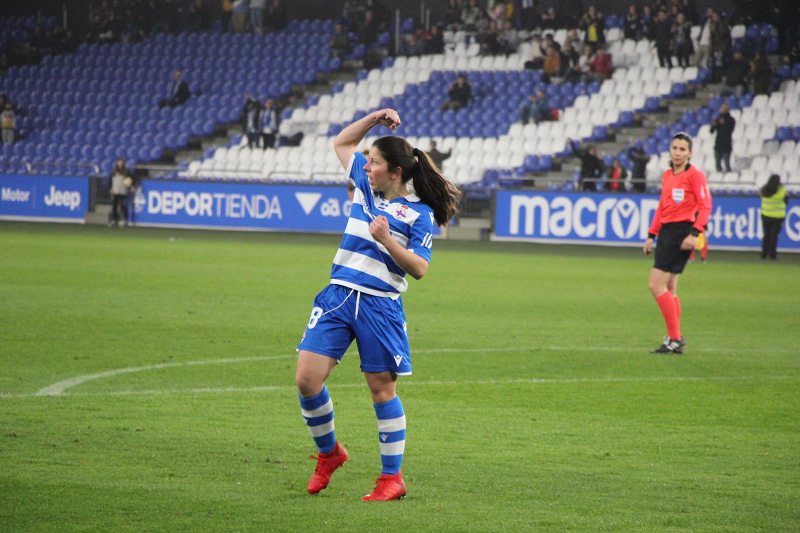 Peke anotando un dos goles en Riazor | RCD