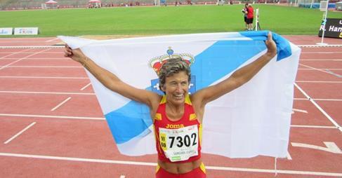 Chus Sanguos tras gañar unha medalla en Lyon | REDESFGA