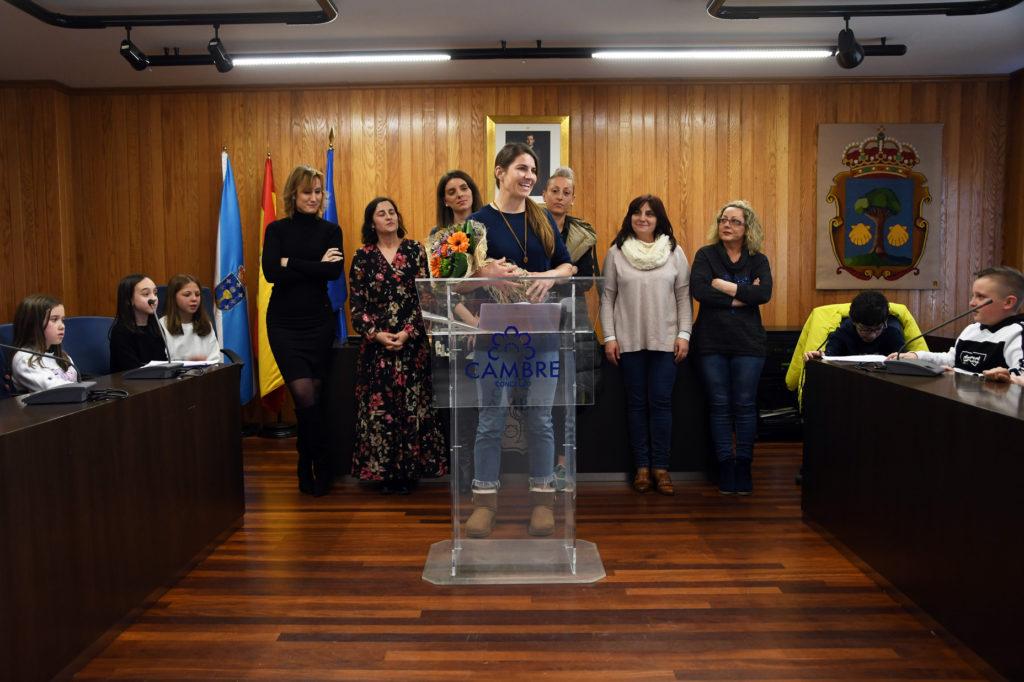 Paula Medín, homenaxeada polo 8M / CAMBRE