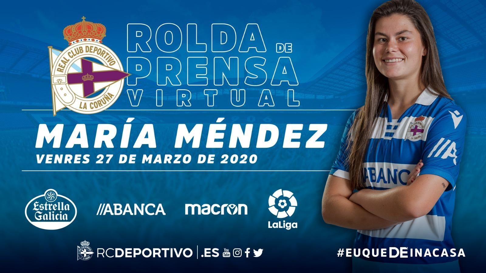 María Méndez, rolda de prensa virtual | RCD