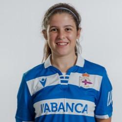 Sara Piñeiro, xogadora do Dépor ABANCA B / RCD