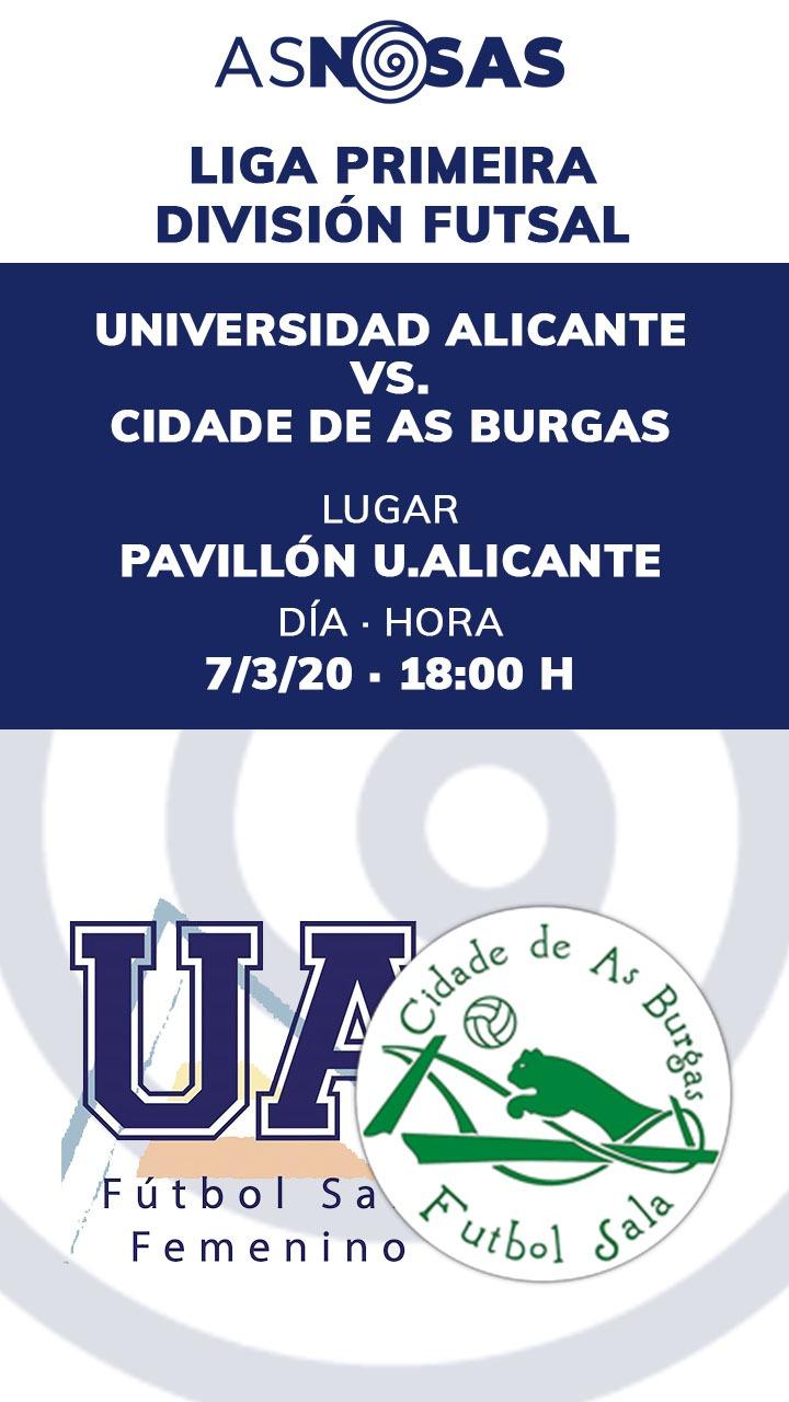UA Alicante - Cidade de As Burgas | AS NOSAS