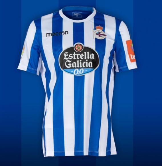 Camiseta Dépor 2019-20 raias verticais / RCD
