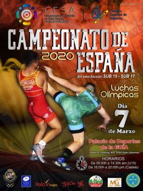 Cartel oficial do Campionato de España de loita / FEGALOITA