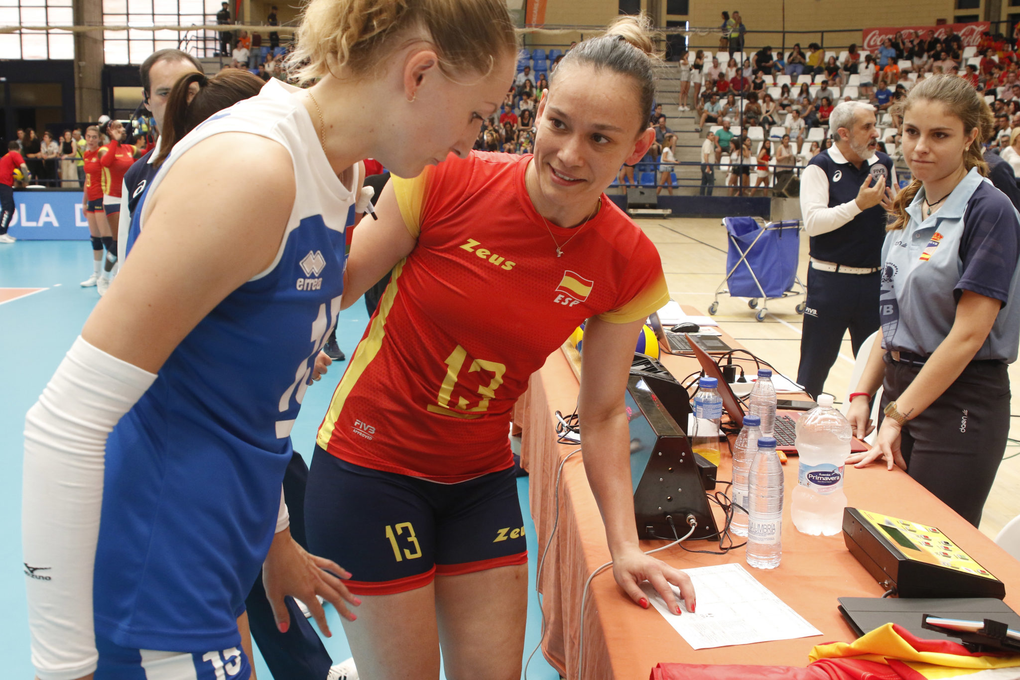 Helia González coa selección española / RFEVB