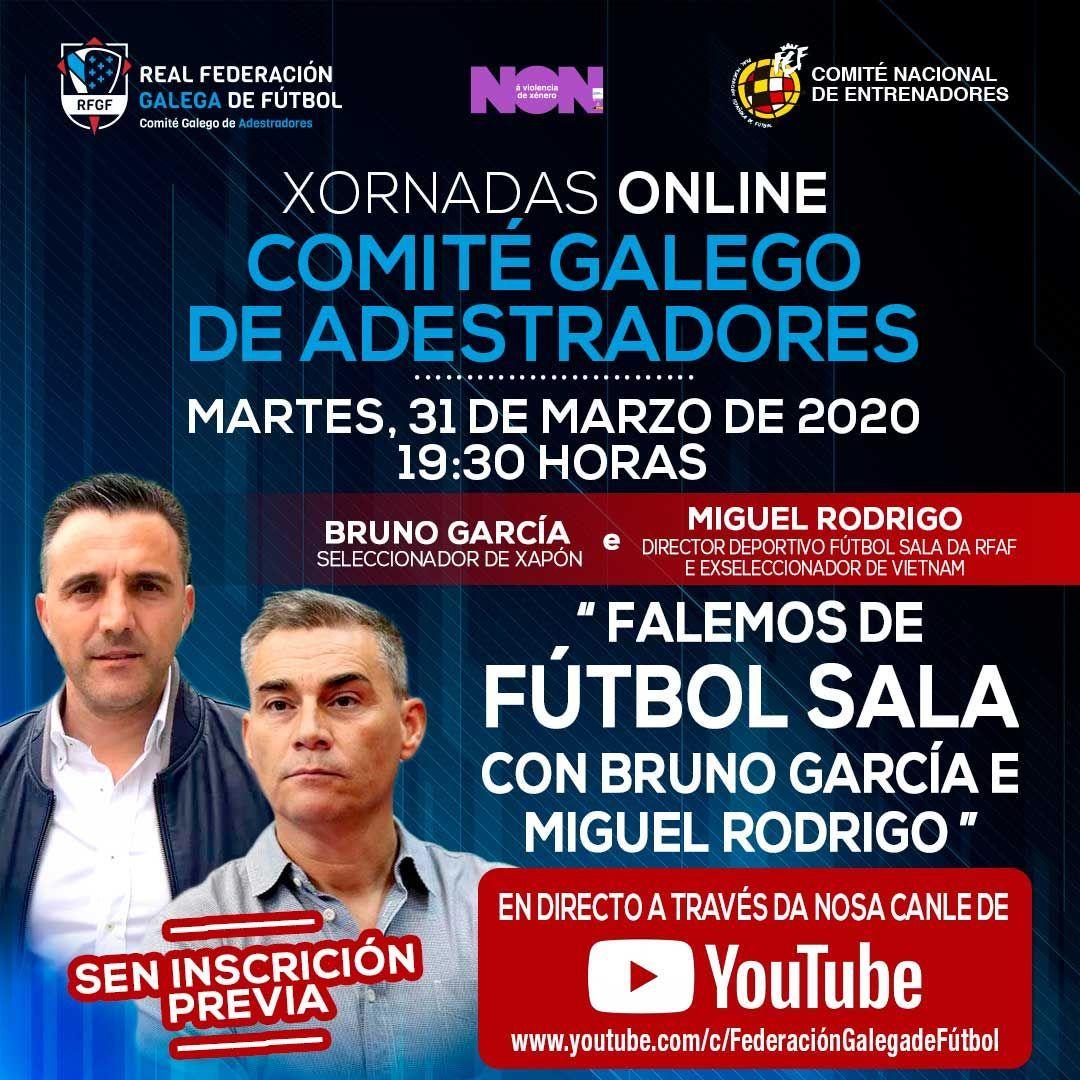 Xornada online RFGF con Bruno García e Miguel Rodrigo | RFGF