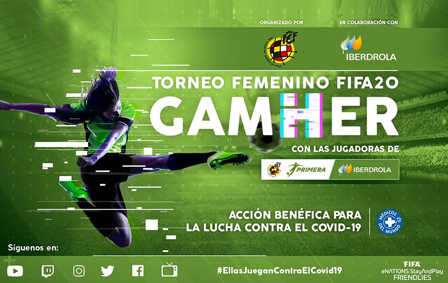'GamHer', primer torneo femenino online con xogadoras da Primera Iberdrola -RFEF