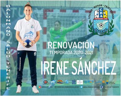 Irene Sánchez renova co Salud Tenerife | CBST