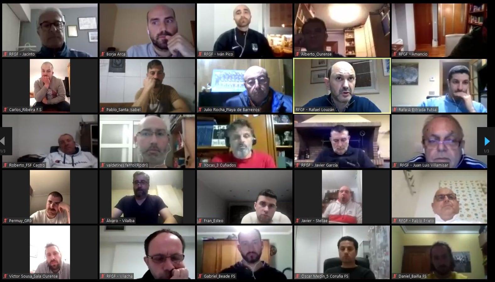 reunións telemáticas da RFGF - RFGF