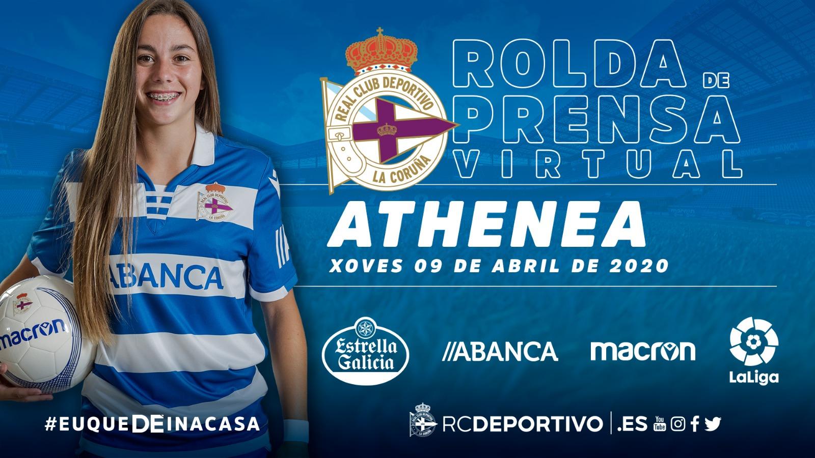 Athenea del Castillo rolda de prensa virtual   RCD