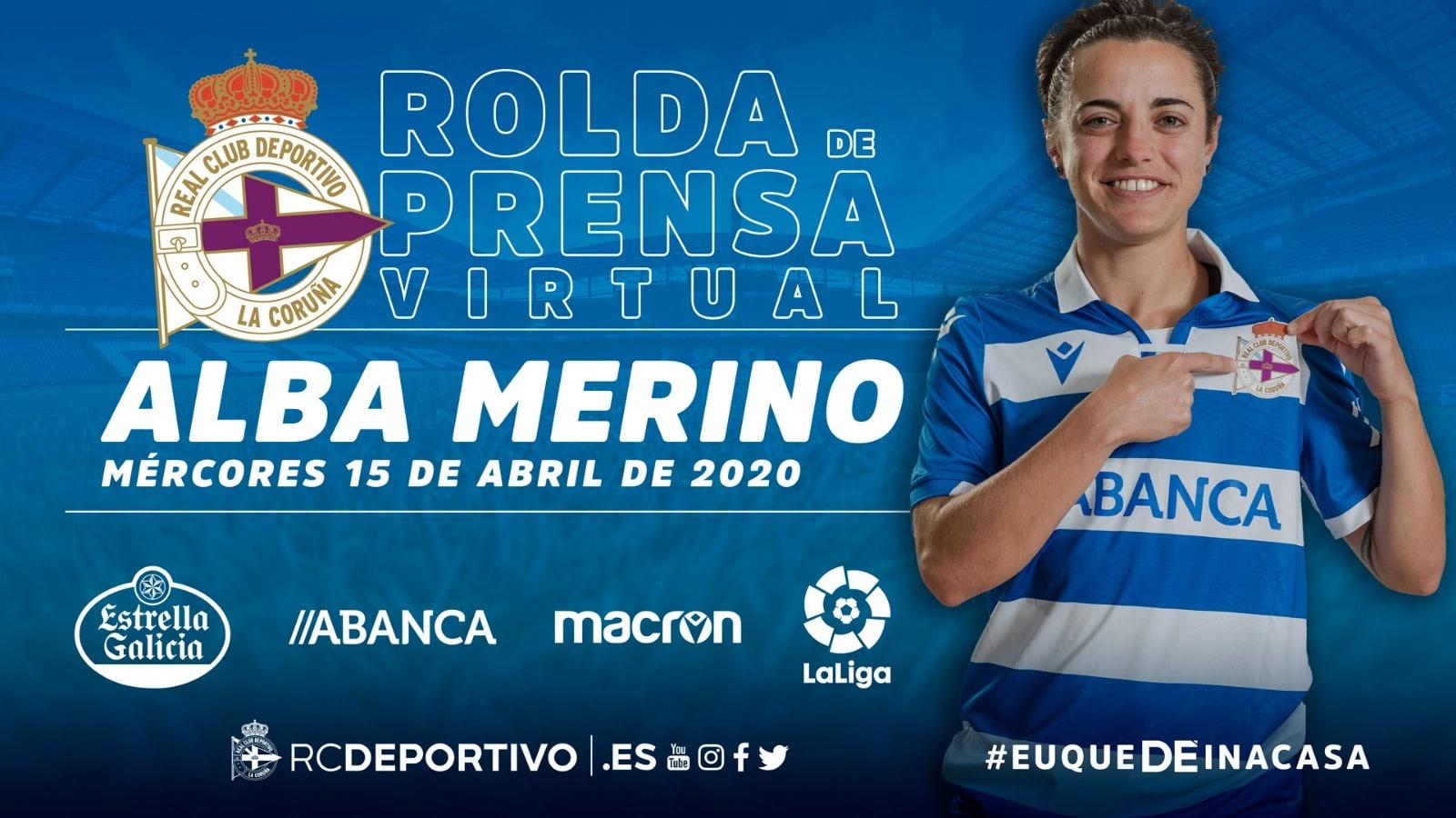 Alba Merino rolda de prensa virtual | RCD