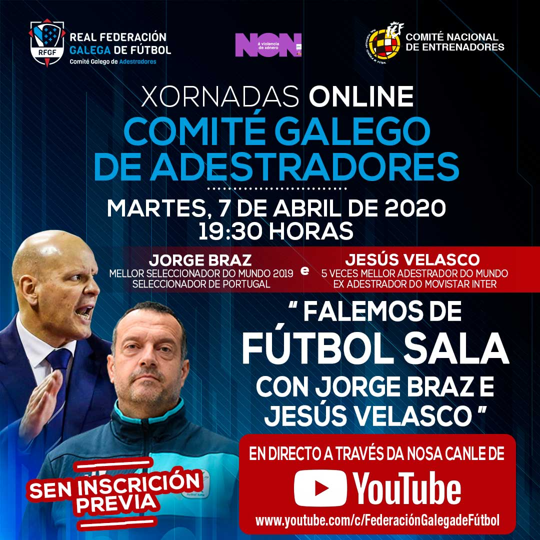 Xornadas online jorge Braz e Jesús Velasco | RFGF