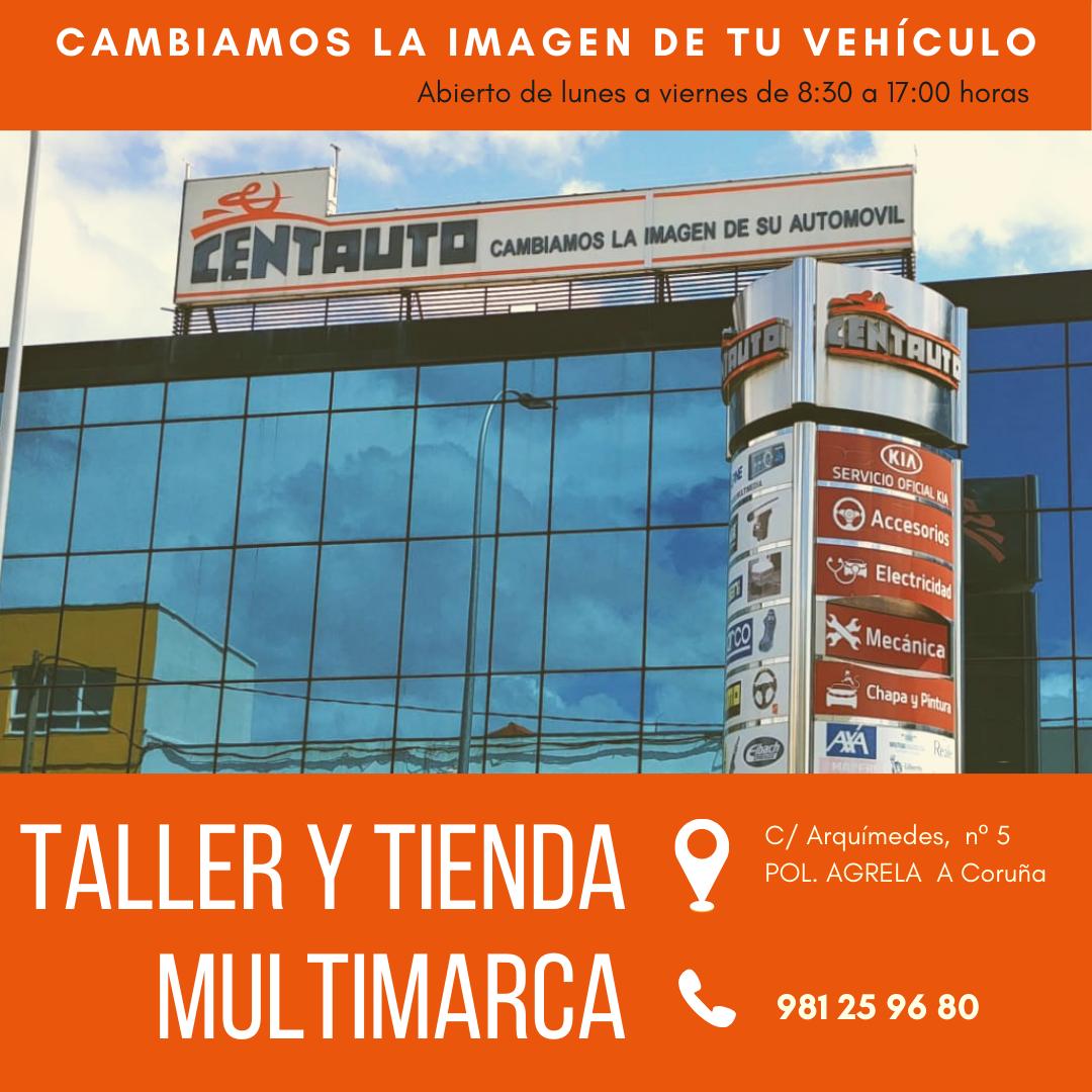 Centauto Taller vehículos multimarca e tenda 1 A Coruña publicidade