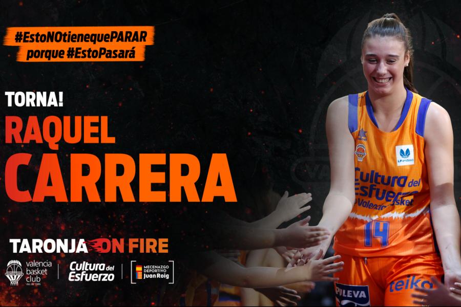Raquel Carrera, xogadora do Valencia Basquet - VBC